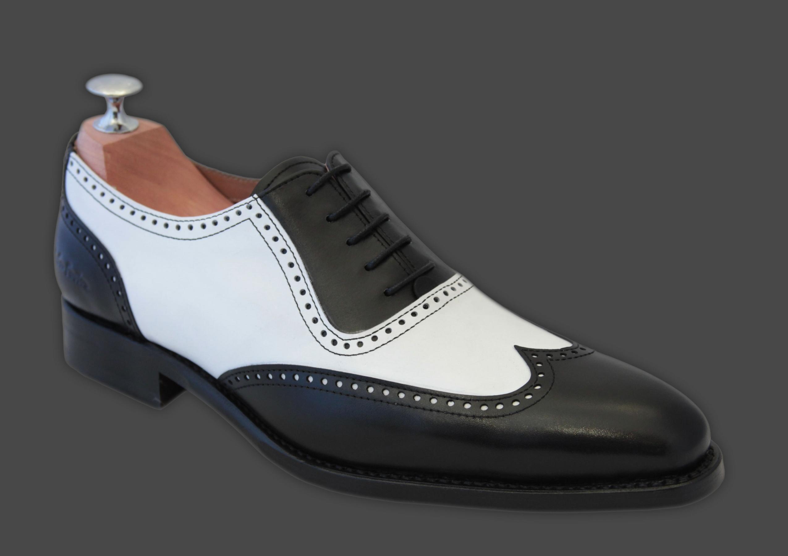 chaussures bicolores noir blanc